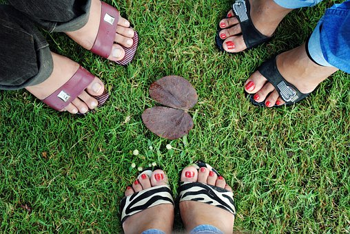Foots, Group, Footwear, Three Person, People, Three