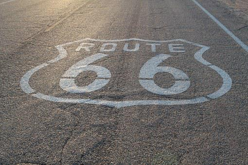 Route 66, Highway, Desert, Travel, Route, 66, Road