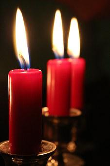 Candles, Red, Light, Flame, Wax, Wax Candle, Wick, Burn