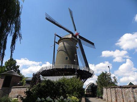 Mill, Ijsselstein, Wind Mill, Wicks, Mill Blades, Wind