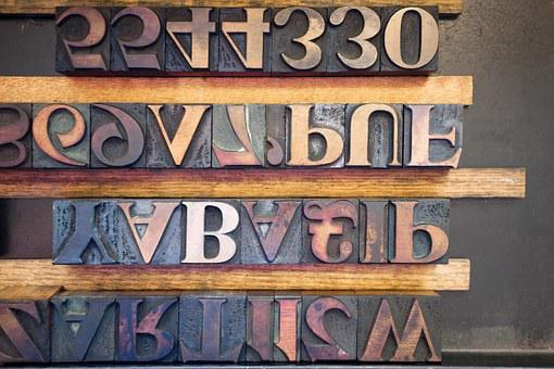 Letters, Wooden Alphabet Letters, Serifs, Book Printing