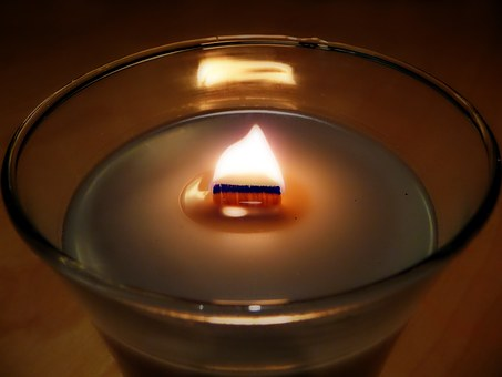 Candle, Flame, Wooden Wick, Fire, Candlelight, Light
