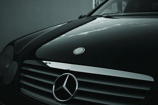 Automobile, Automotive, Benz, Black, Car, Chrome