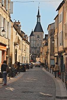 Avallon, Yonne, City, Pedestrian Street, Houses
