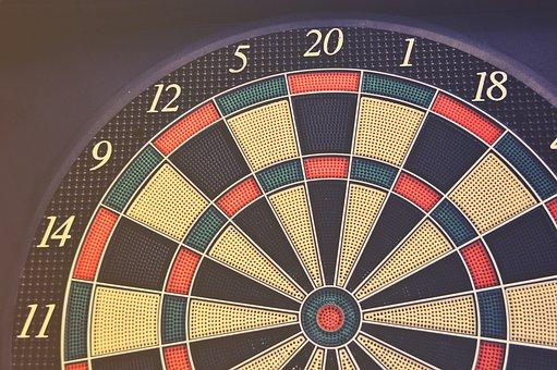 Black, Board Game, Bullseye, Dart, Dartboard, Design