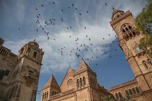 Kutch, Gujarat, India, Palace, British King, Sky