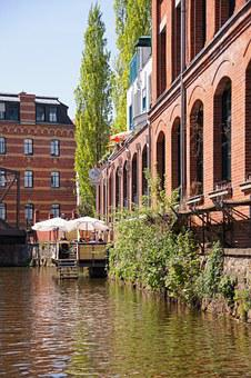 Leipzig, Karl Heine Canal, River, Building, Home