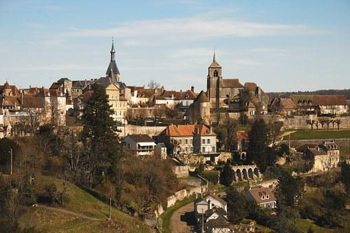 Avallon, Yonne, City, Tree, Houses, Burgundy, Site