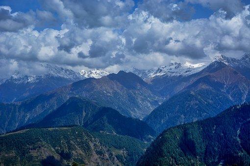 Bliss, Clouds, Green, Mist, Mountain, Mountaineer