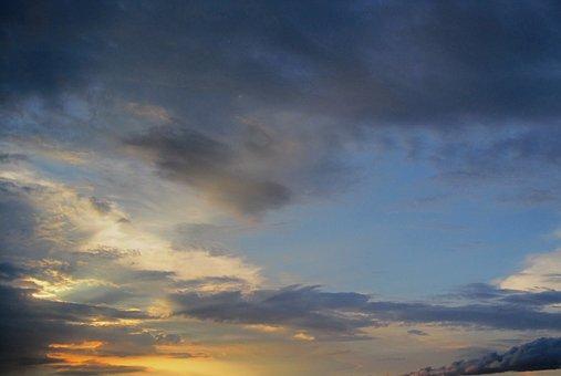 Sky, Clouds, Dark Clouds, White Clouds