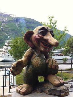 Norway, Geiranger, Geirangerfjord, Figure, Troll