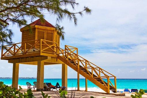 Lifeguard, Beach, Tower, Life, Yellow, Safety, Guard