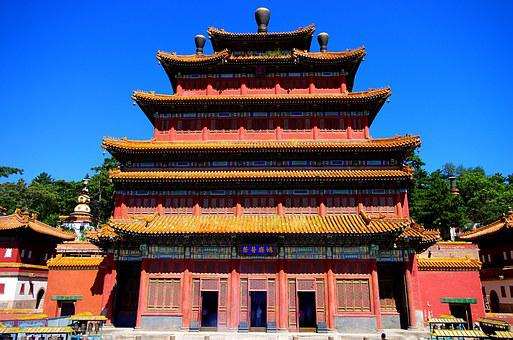China, Hebei, Chengde, Temple, Buddhism