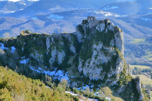 Castle, Ruin, Cathar, Fortification, Perched, History
