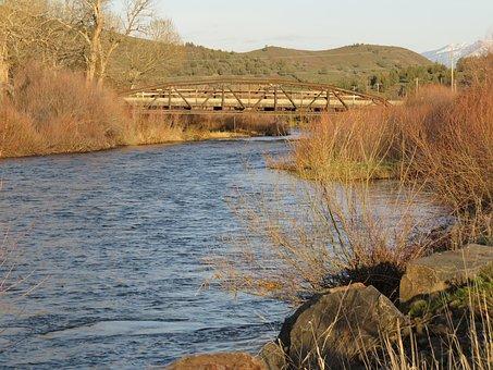 Iron Bridge, John Day, River, Oregon, Countryside