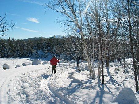 Acadia National Park, Maine, Landscape, Winter, Snow