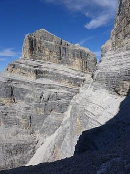 Pelmo, Pelmetto, Dolomites, Ledge Of Grohmann, Trekking