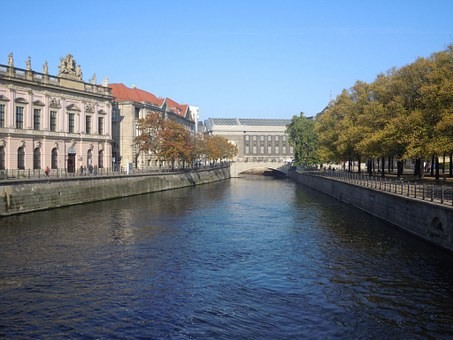 Berlin, Spree, River, Palace Bridge