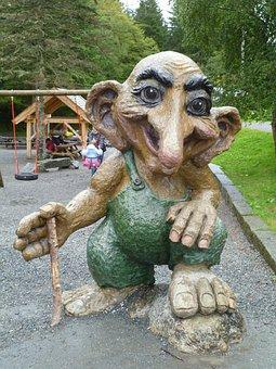 Norwegian Troll, Statue, Holiday, Tourist Trap