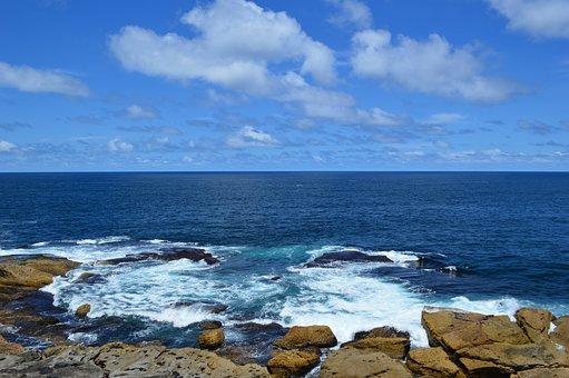 Stones, Sea, Sun, Summer, Rock, Ocean, Nature, Wave