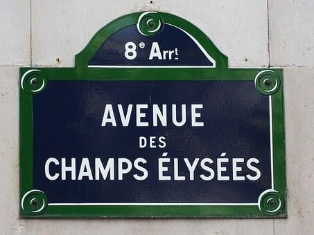 Avenue, Sign, Street Signs, Paris, Green