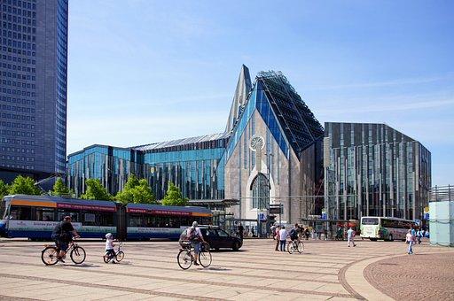 Leipzig, Augustus Square, Church, University