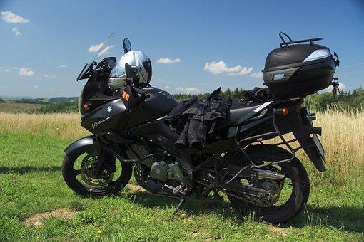 Motorcycle, Suzuki, V-strom, Pause, Break