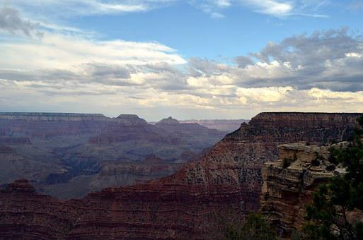 Valley, Grand Canyon National Park, Rock, Nature, View