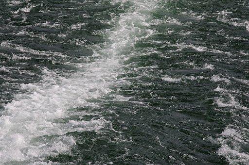 Wake, Ship, Lake, Restless, Shipping, Ferry