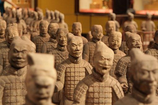 China, Soldiers, Terracotta, Sculpture, Asia, Warrior