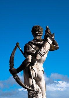 Statue, Sculpture, Archer, Stone Sculpture