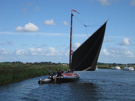 Sail, Wherry, Boat, Vessel, Ship, Fishing, Sailing