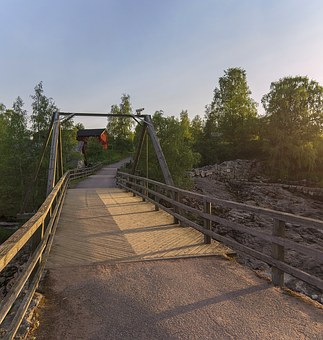 Rapids, Nautelankoski, Evening, Bridge, Reckless