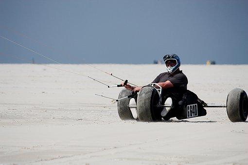Borkum, Beach, Buggy, Sea, Island, Dune, Sport