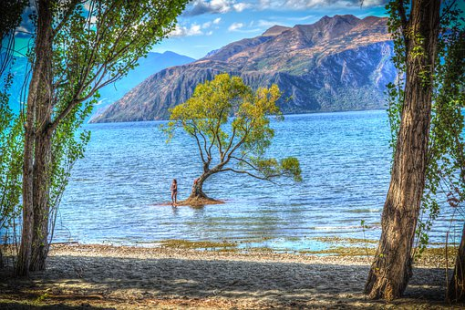 Wanaka, New Zealand, Lake Wanaka, Cloud, Sky, Nature