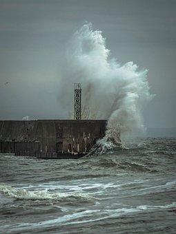 Sea, Storm, Pier, Crimea, Vawave, Wind, Splash, Pierce
