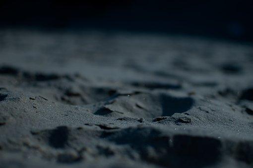 Beach, Close-up, Dark, Glittery, Hole, Macro, Nature