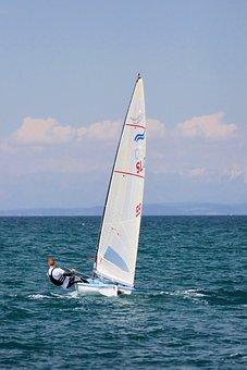 Sailing, Finn, Sailboat, Sport, Dinghy