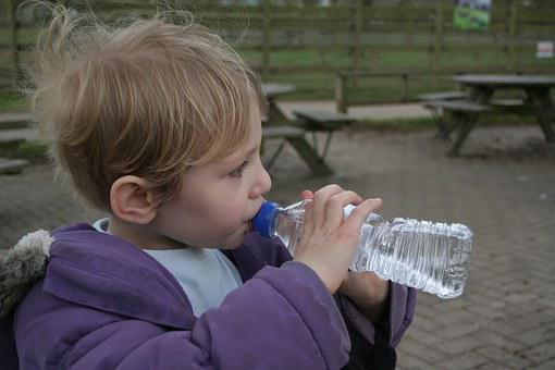 Child, Drinking, Water, Bottle, Little, Girl, Drink