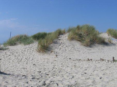 Dune, North, Dune Ridge, Footprints, Borkum