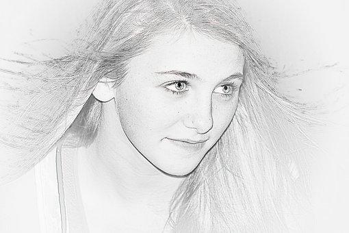 Girl, Eyes, Long Hair, Eye Lashes, Portrait, Pretty
