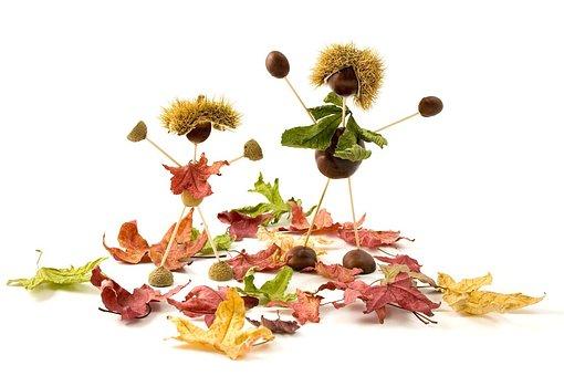 Conker, Conkers, Acorn, Acorns, Autumn, Fall, Leaf