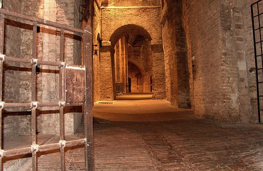 Italy, Perugia, Fortress, Vault, Dungeon, Building