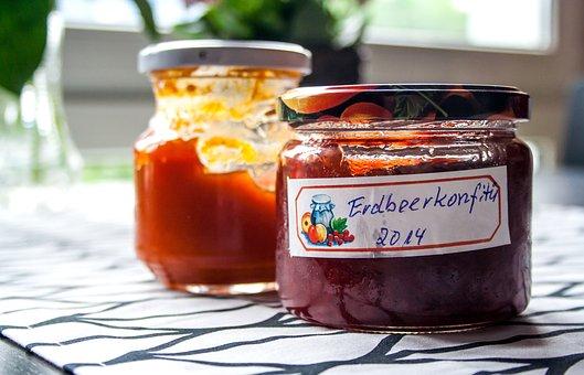 Jam, Fruits, Breakfast, Glass, Spread, Sweet, Jam Jars