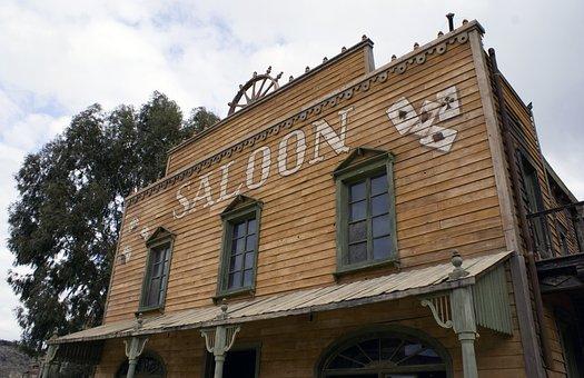 Saloon, Bar, Old Saloon, Western Saloon, Ghost Town