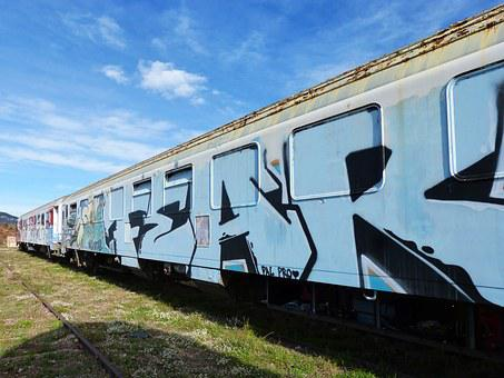 Train, Wagon, Vandalism, Abandoned, Graffitti