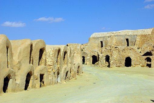 Tunisia, Granaries, Vaults, Building, Reserve