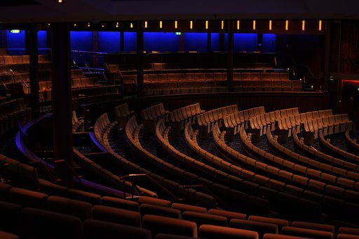 Concert Hall, Chairs, Dark, Furniture, Hall, Indoors