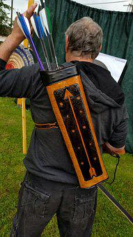 Quiver, Archer, Leather Accessories, Handmade, Darts