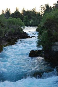 Waterfall, New Zealand, White Water, Rapids, Huka River